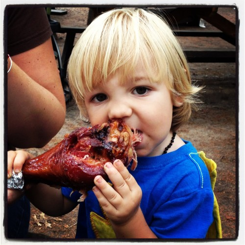 Eating the Turkey Leg