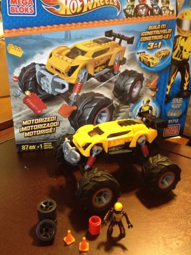 The full Monster Truck set, add any Hot Wheels MEGA Bloks car to this motorized chassis.