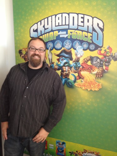 At the Skylanders Event
