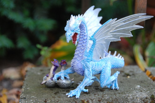 Ice Dragon and Hatchlings