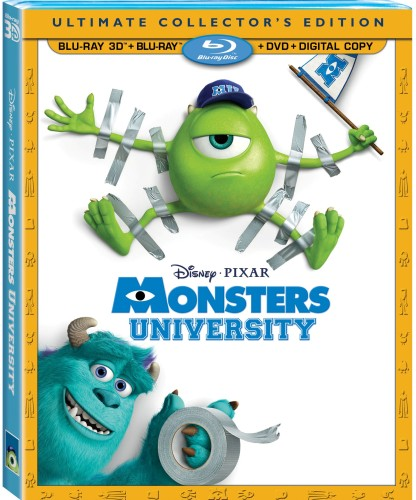 Monsters University 3D Bluray Combo Art