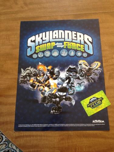 Exclusive Dark Skylanders Poster from GameStop and the Skylanders Adventure Club Card