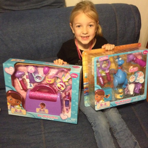 Eva with Doc McStuffins Toys