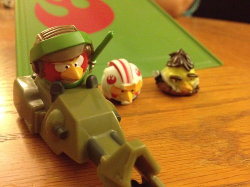 Luke Skywalker on Speederbike, Han Solor and Luke Skywalker