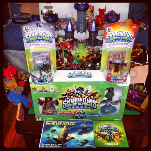 Skylanders Swap Force has arrived at my house.