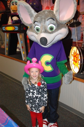 Photo with Chuck E. Cheese
