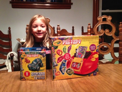 Eva with the Melt 'N Mold Toys