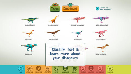 Search for a specific dinosaur