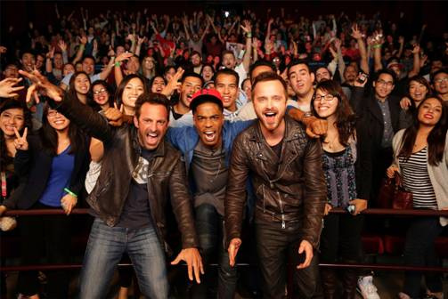 Need for Speed Director Scott Waugh and stars Scott Mescudi  and Aaron Paul and fans!