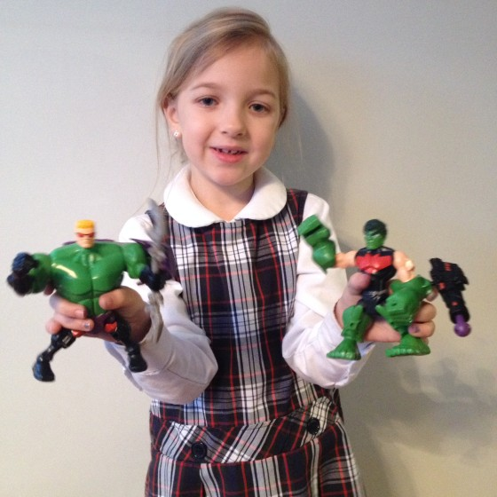 Eva with Hawk Smash and Hulk-Eye