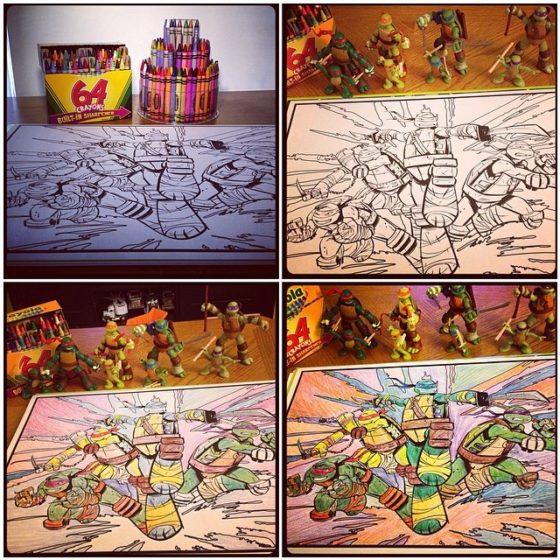 Ninja Turtles Crayons
