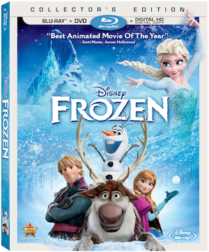 Frozen on Blu-ray/DVD