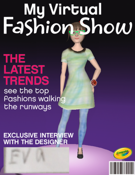 Crayola Fashion Show Templates My Virtual Fashion Show Cover