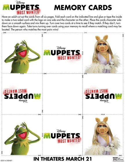 Muppets Most Wanted Memory Cards