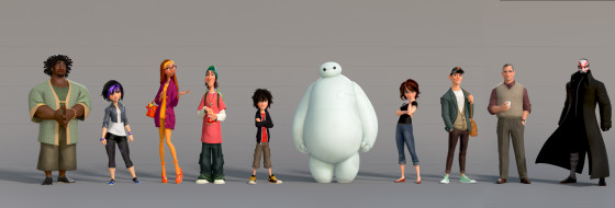 BIG HERO 6 Character Lineup
