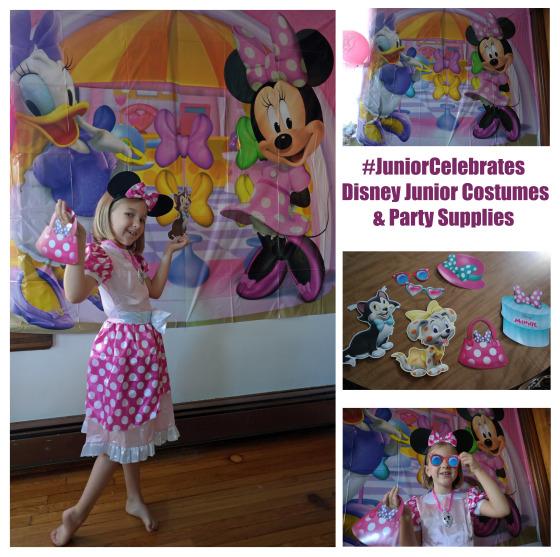 #Junior Celebrates - Disney Junior Costumes - Minnie Mouse Costume and Party Decorations