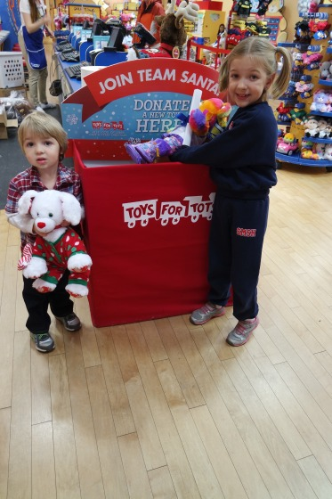 Toys For Tots Box : Build a bear donations to benefit toys for tots