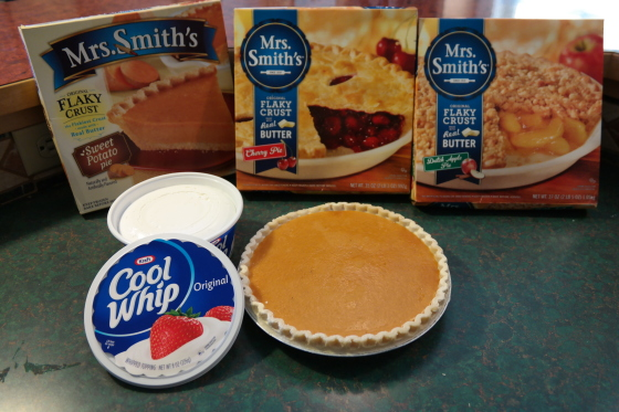 Mrs. Smith Pies and Cool Whip Purchases
