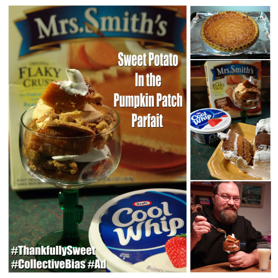 Sweet Potato in the Pumpkin Patch Parfait is #ThankfullySweet and made with Mrs. Smith's Pie and Cool Whip #CollectiveBias #Ad