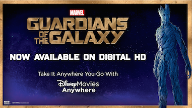 Guardians of the Galaxy on Disney Movies Anywhere