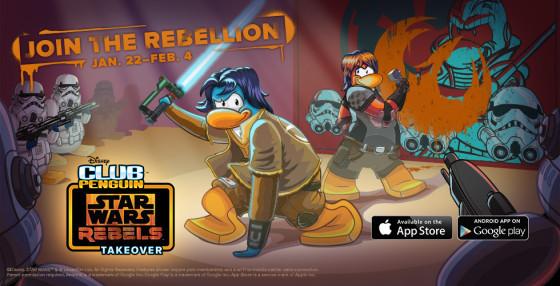 Star Wars Rebels Takeover of Club Penguin