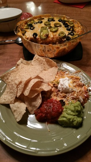 Finished Taco Dip
