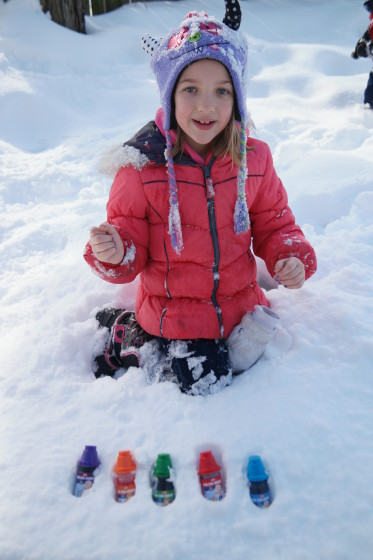 Playing with the Mini Sno-Markers