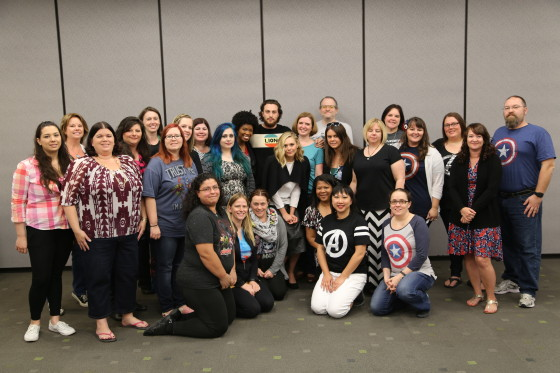 #AvengersEvent Bloggers with Aaron Taylor-Johnson and Elizabeth Olsen