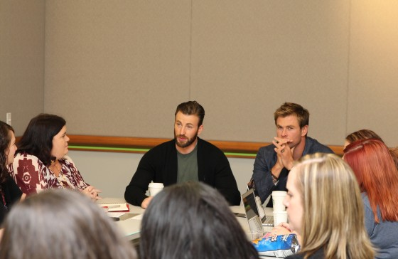 Chris Evans and Chris Hemsworth Blogger Interview 3
