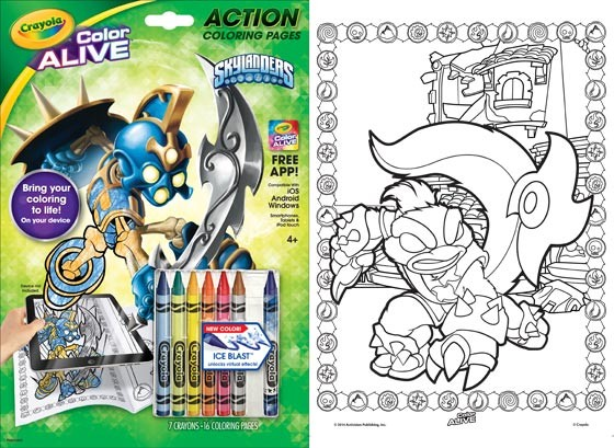 Color Alive Action Coloring Books