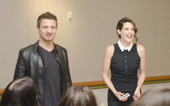 Jeremy Renner and Cobie Smulders - Photo Credit Jana Seitzer / MerlotMommy.com