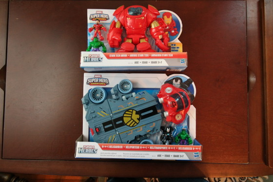 The two Playskool Heroes sets