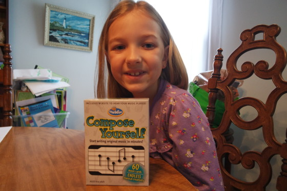 Eva with Compose Yourself,  Ready to play.