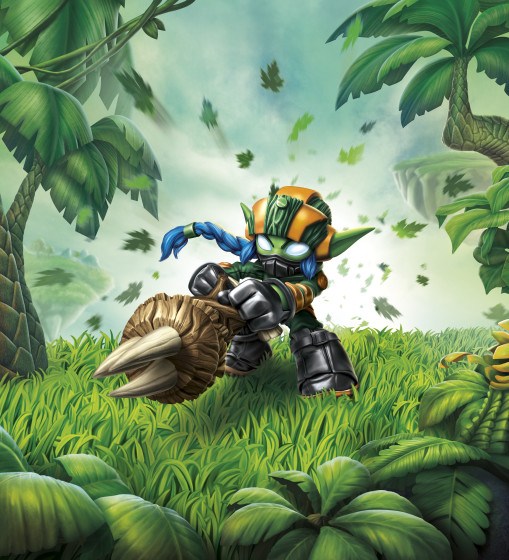 Skylanders SuperChargers - Super Shot Stealth Elf  - Life Element SuperCharger - Illustration