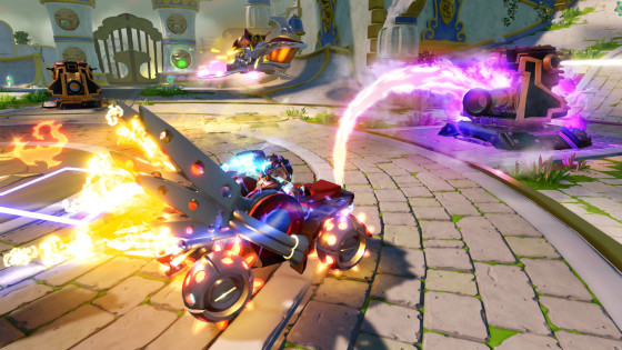 Skylanders SuperChargers - Hot Streak - Land Type - Fire Element - Vehicle - Screenshot