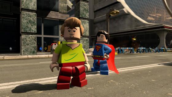 Shaggy and Superman