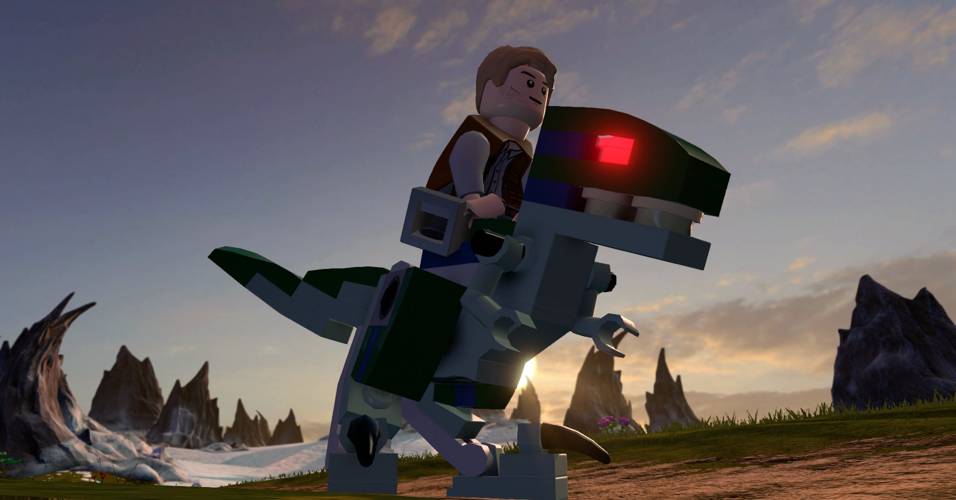 Jurassic World Raptor Riding in LEGO Dimensions