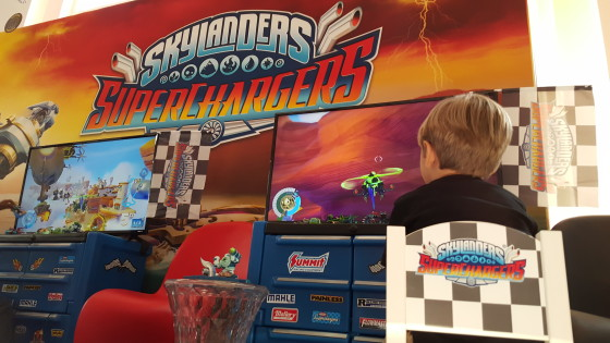 Andrew Playing Skylanders SuperChargers