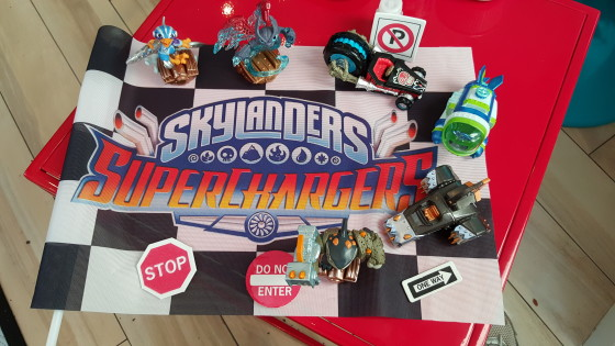 Skylanders SuperChargers on display to play at the Playdate in NYC