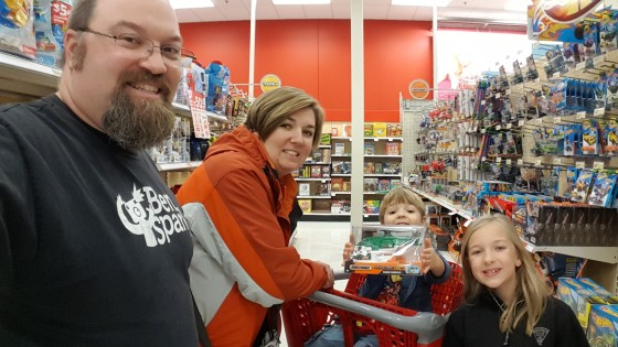 The Family is ready to shop at Target for Christmas is for Kids