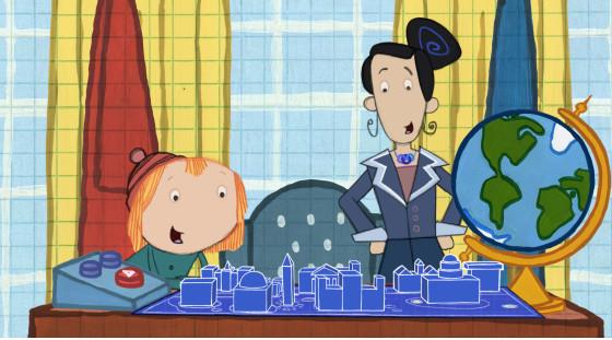 Sandra oh heads to the oval office on peg cat benspark family pegcat blueprint malvernweather Choice Image