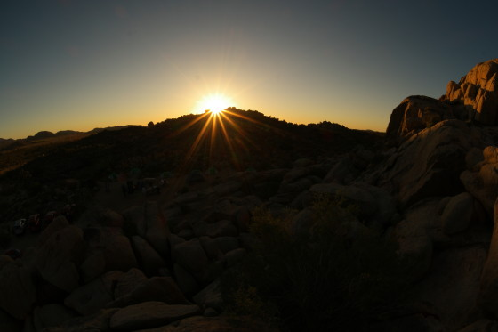 Sunrise over Joshua Tree