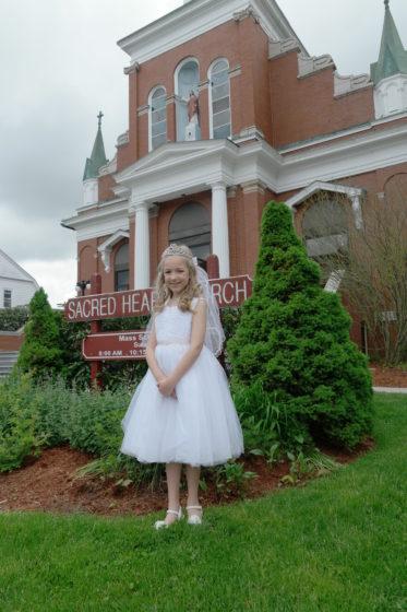 Eva at Sacred Heart Church