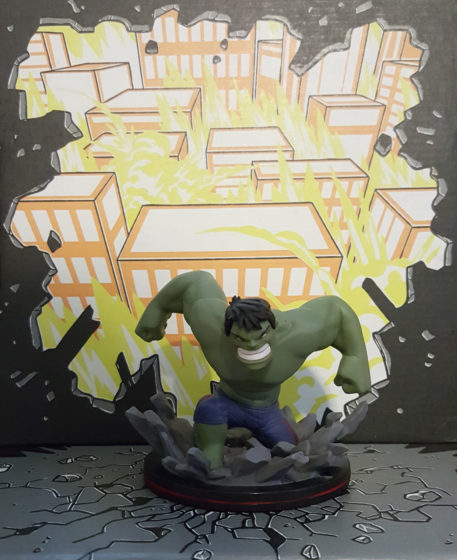 The Hulk showing his power