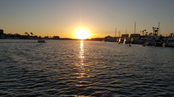 Sunset over Newport Beach Harbor