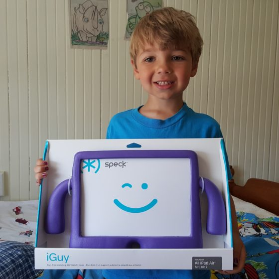 Andrew loves his new iGuy from Speck