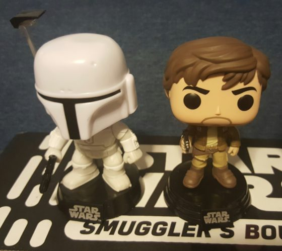 Walgreens Exclusive White Prototype Boba Fett and Target Exclusive Captain Cassian Andor
