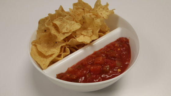 Chips and Salsa in the Just Crunch Anti-Soggy Bowl