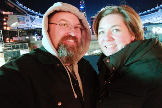 Drew and Allison at Patriot Place