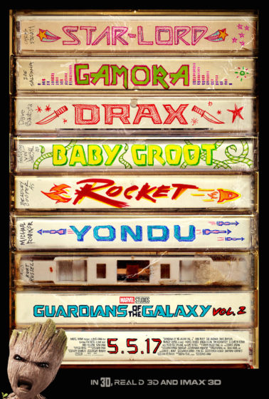 GOTG2 Teaser 2 Poster - Tapes